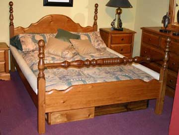 the woodland 4 post waterbed solid pine hardside waterbed frame
